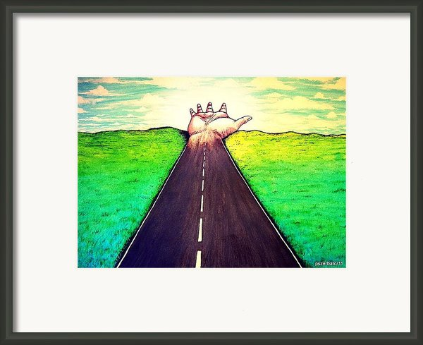 Those Who Follow The Way Framed Print By Paulo Zerbato