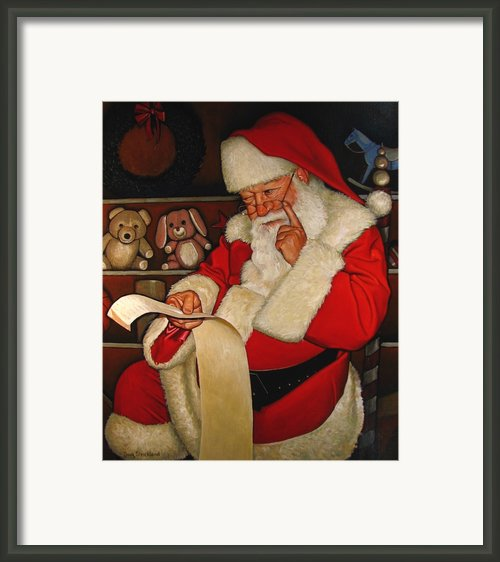Thoughtful Santa Framed Print By Doug Strickland