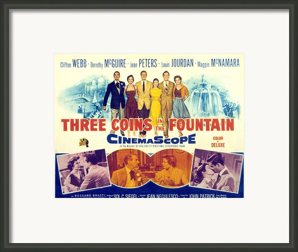 Three Coins In The Fountain, Clifton Framed Print By Everett