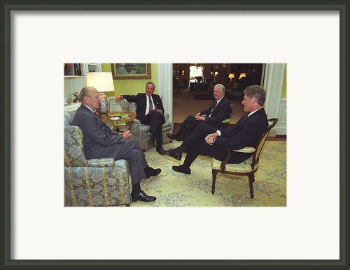 Three Former Presidents Gerald Ford Framed Print By Everett