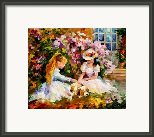 Three  Friends Framed Print By Leonid Afremov