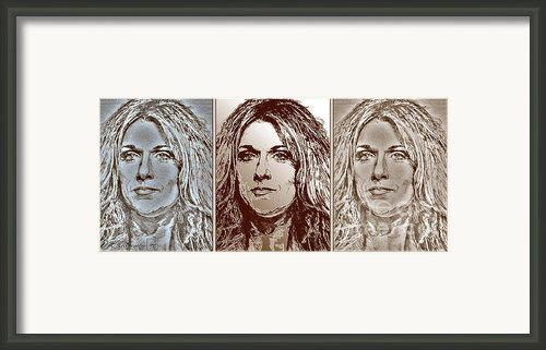 Three Interpretations Of Celine Dion Framed Print By J Mccombie
