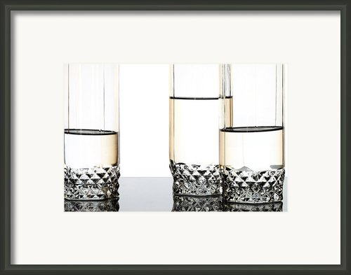 Three Luxury Glasses Framed Print By Dmitry Malyshev