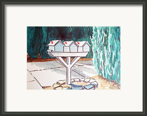 Three Mailboxes Sketchbook Project Down My Street Framed Print By Irina Sztukowski
