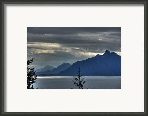 Three Mountains. Framed Print By Alexander Rozinov