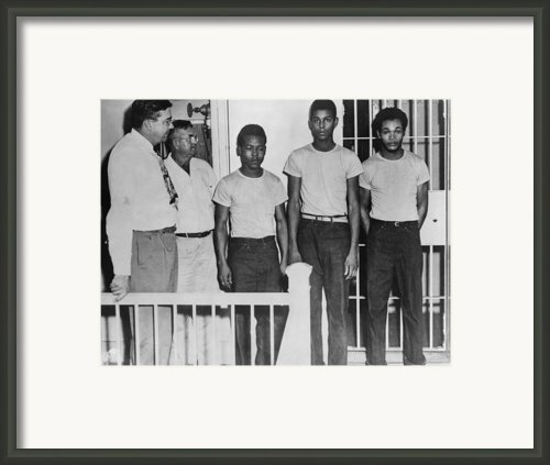 Three Of The Surviving Groveland Four Framed Print By Everett