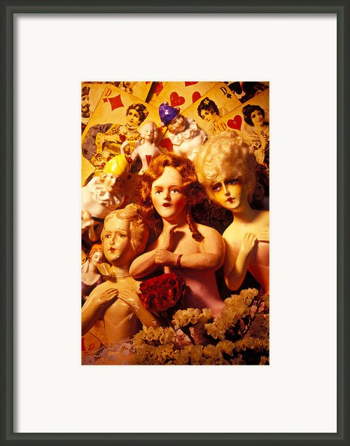 Three Old Dolls Framed Print By Garry Gay