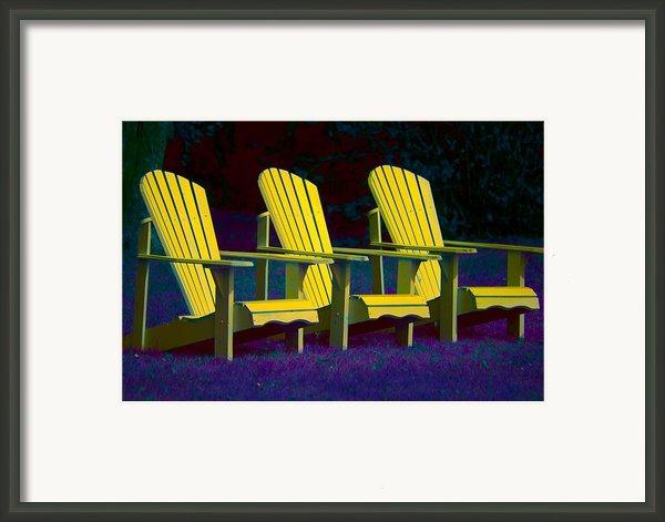Three Old Friends Framed Print By Elisabeth Van Eyken