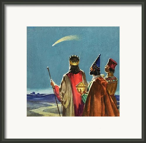 Three Wise Men Framed Print By English School