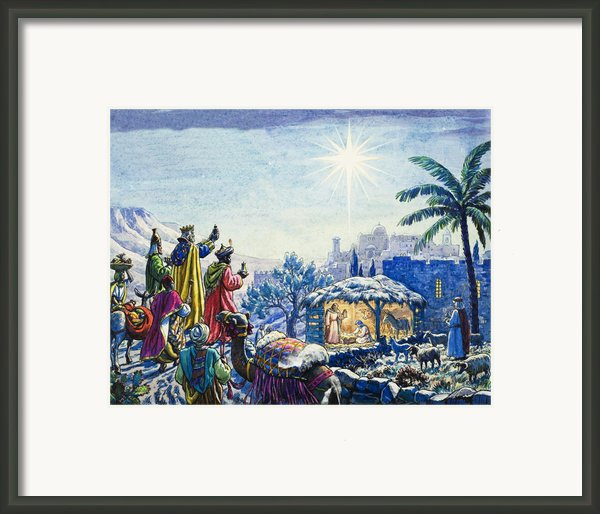 Three Wise Men Framed Print By Unknown