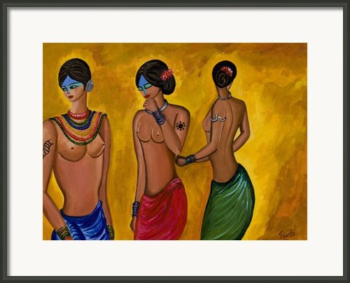 Three Women - 1 Framed Print By Sweta Prasad