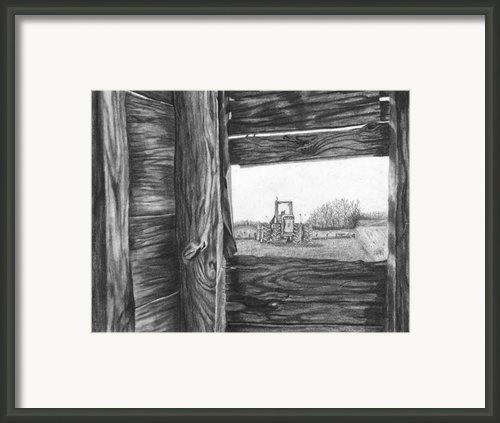 Through The Barn Framed Print By Dean Herbert