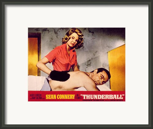 Thunderball, Molly Peters, Sean Framed Print By Everett