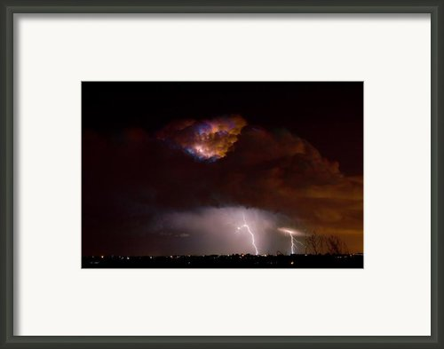 Thunderstorm Boulder County 08-15-10 Framed Print By James Bo Insogna