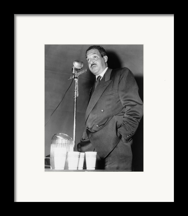 Thurgood Marshall, Then Chief Counsel Framed Print By Everett