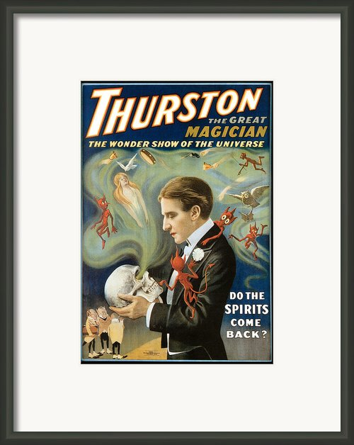 Thurston The Great Magician Framed Print By Unknown