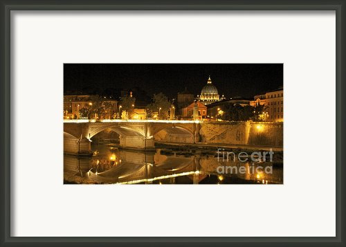 Tiber River And Ponte Vittorio Emanuele Ii Bridge With St. Peter