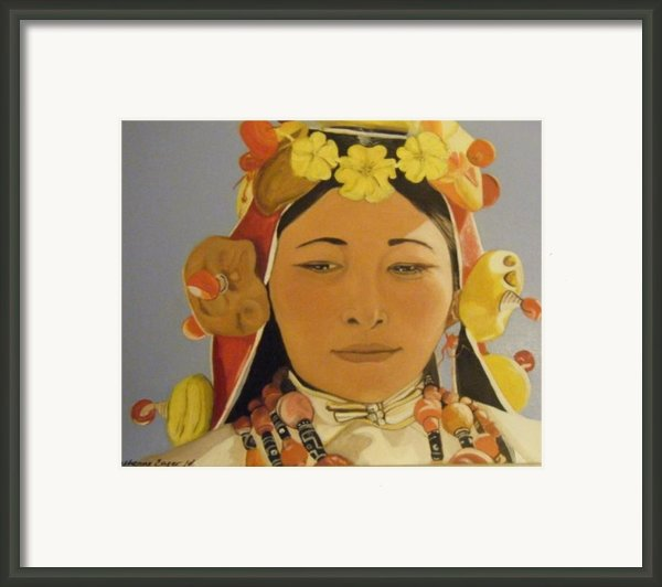 Tibetan Celebration Orginal Framed Print By Catherine Eager