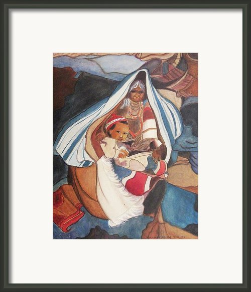Tibetan Grandmother And Baby Framed Print By Suzanne  Marie Leclair