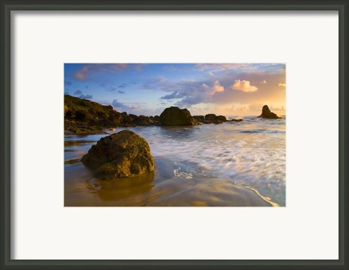 Tidal Flow Framed Print By Mike  Dawson