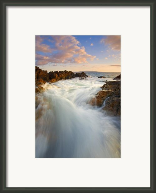 Tidal Surge Framed Print By Mike  Dawson