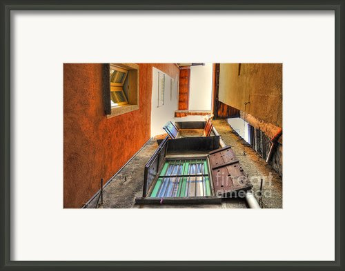 Tight Patio Framed Print By Mats Silvan