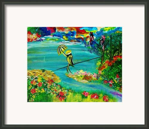 Tight Rope Framed Print By Kelly Turner