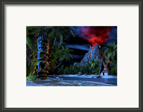 Tiki Jungle Framed Print By Alex George