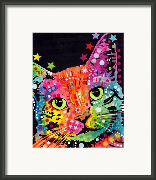 Tilted Cat Warpaint Framed Print By Dean Russo