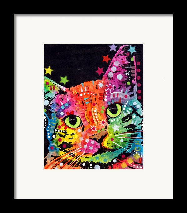 Tilted Cat Warpaint Framed Print By Dean Russo