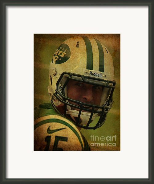 Tim Tebow - New York Jets - Timothy Richard Tebow Framed Print By Lee Dos Santos
