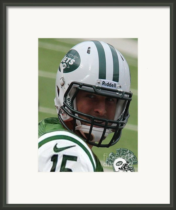 Tim Tebow - New York Jets Florida Gators - Timothy Richard Tebow Framed Print By Lee Dos Santos
