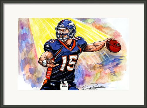 Tim  Tebow Framed Print By Dave Olsen