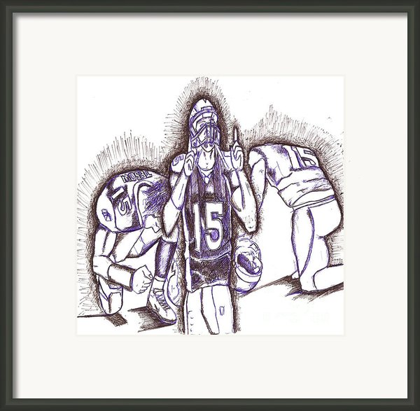 Tim Tebow Glory Framed Print By Hprince De Artist