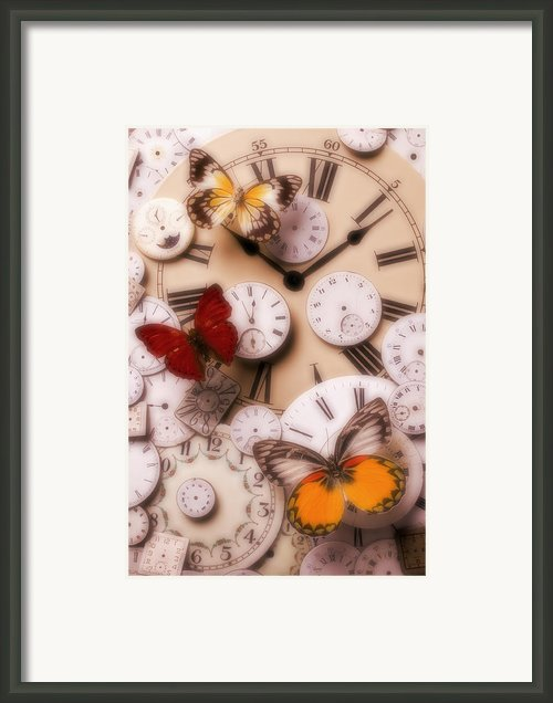 Time Flies Framed Print By Garry Gay