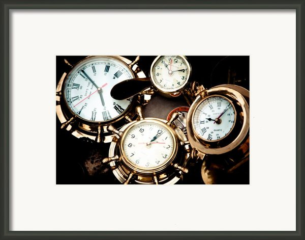 Time Framed Print By Gabriela Insuratelu
