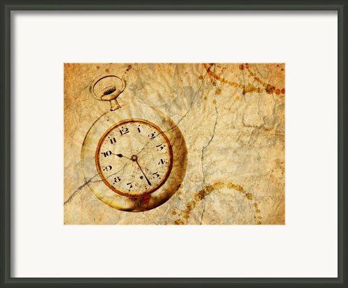 Time Framed Print By Michal Boubin