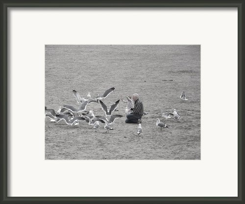 Time With Grandpa Framed Print By Angi Parks