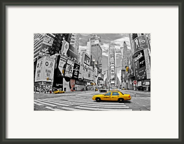 Times Square - New York Framed Print By Marcel Schauer