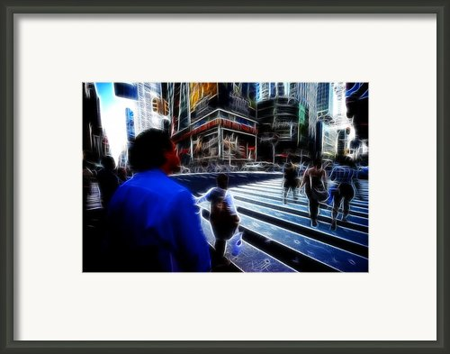 Times Square New York City Framed Print By Lawrence Christopher