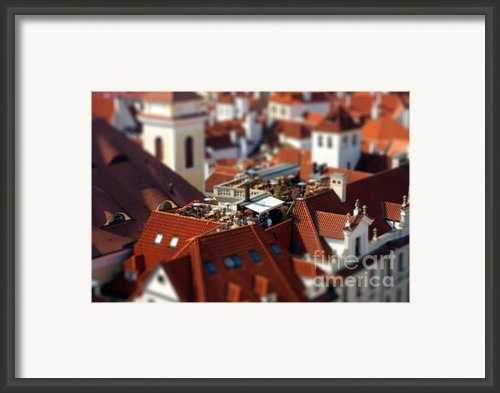 Tiny Roof Restaurant Framed Print By Joerg Lingnau