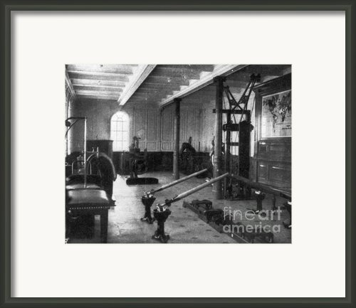 Titanic: Exercise Room, 1912 Framed Print By Granger