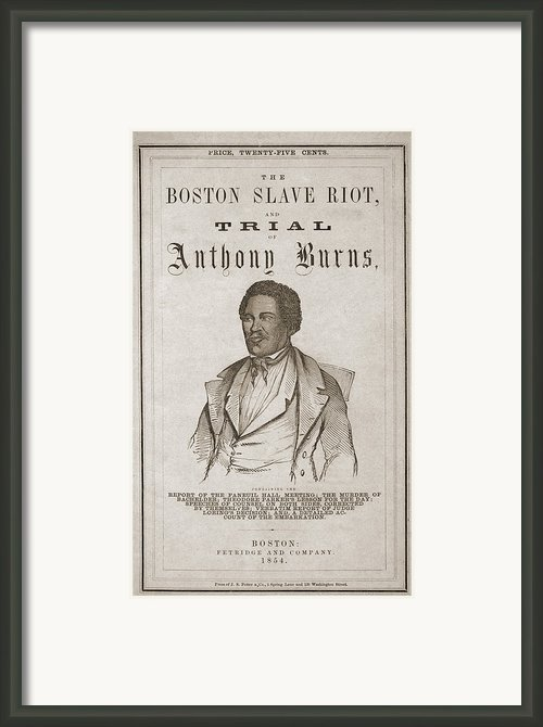 Title Page Of Boston Slave Riot And The Framed Print By Everett