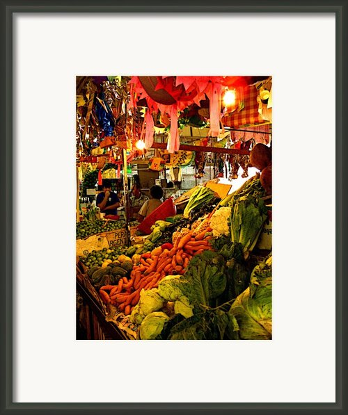 Tlaquepaque Market Stall Framed Print By Olden Mexico