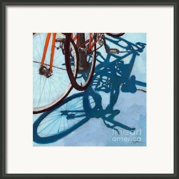 Together - City Bikes Framed Print By Linda Apple