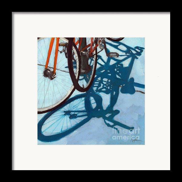 Together - City Bikes Framed Print By Linda Apple