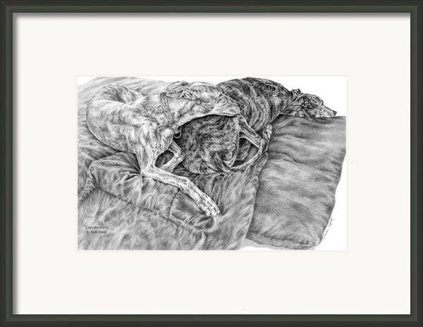Togetherness - Greyhound Dog Art Print Framed Print By Kelli Swan