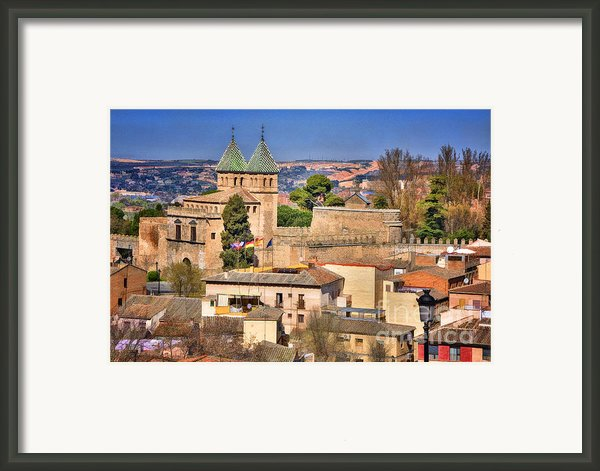 Toledo Town View Framed Print By Joan Carroll