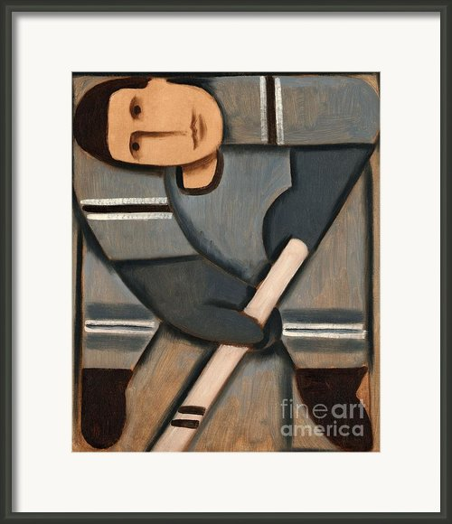 Tommervik Cubism Hockey Player Framed Print By Tommervik