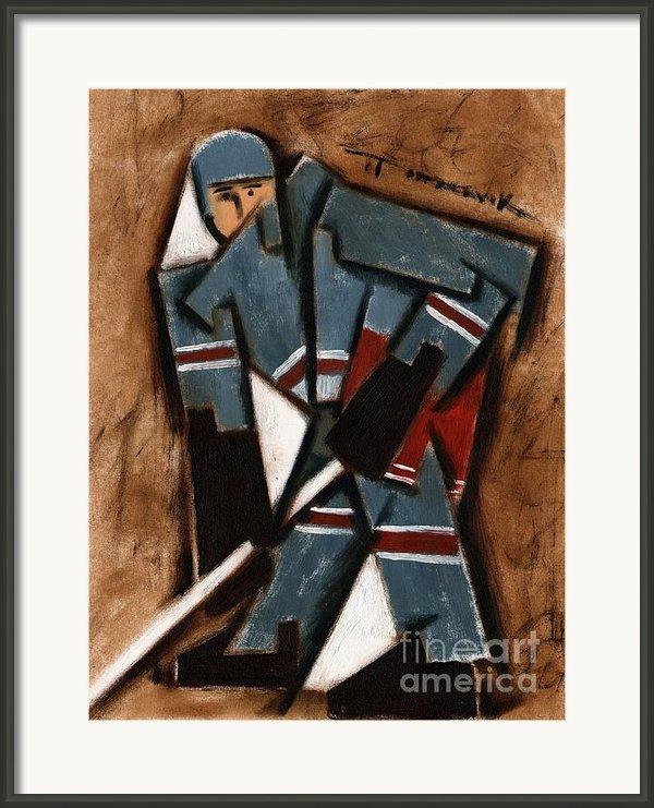 Tommervik Hockey Player Framed Print By Tommervik